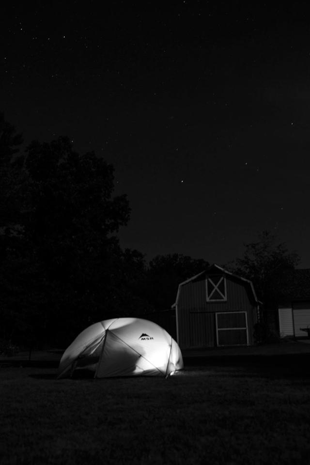 backyard camping. photo cred: my dad