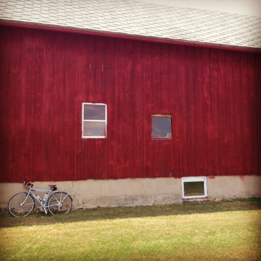 my bicycle and a barn