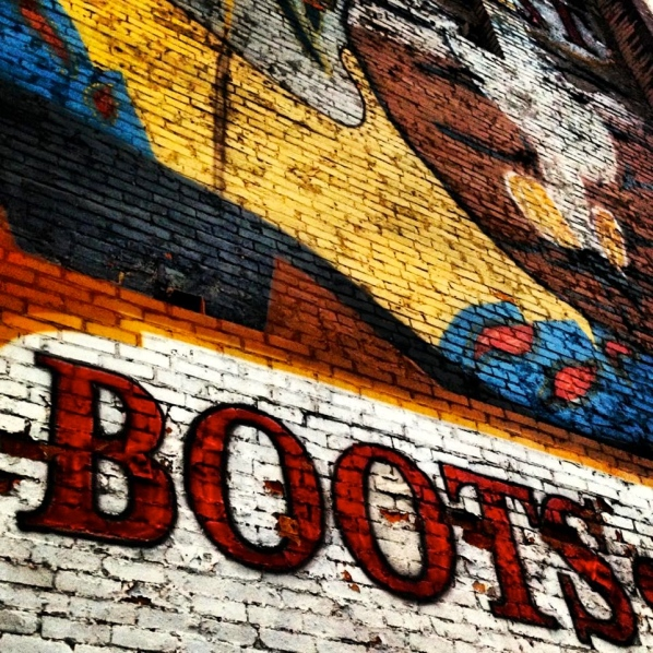 Boots on a Building. Nashville, Tennessee
