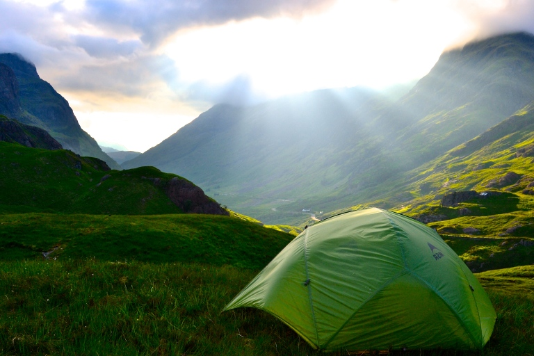 campsite #3, Glen Coe Mountain Range