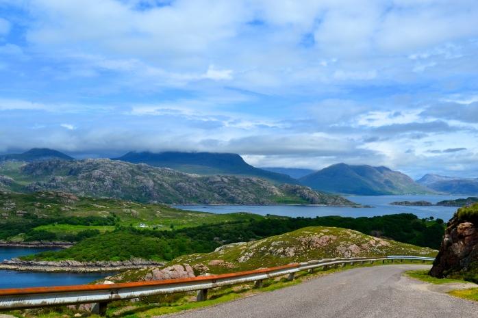 drive from applecross to shieldaig, wester ross, scotland