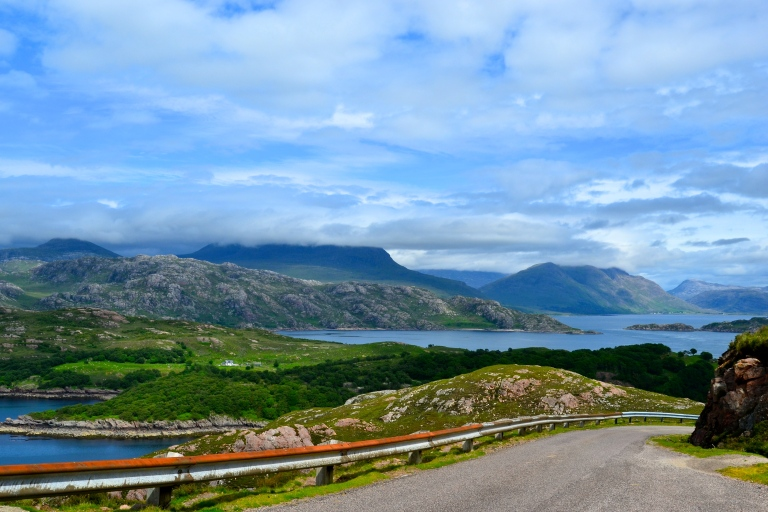 drive from applecross to shieldaig, wester ross, scotland