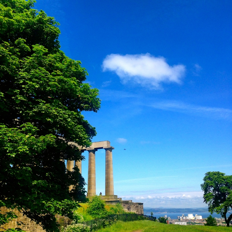 View of the National Monument on top of Calton Hill. Yes, I made it eventually.