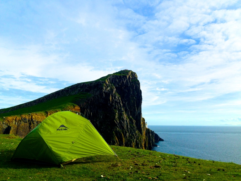 campsite #4 Neist Point Lighthouse, Isle of Skye