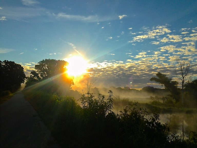 sunrise on my bike ride to work, one year ago today. Madison, Wisconsin