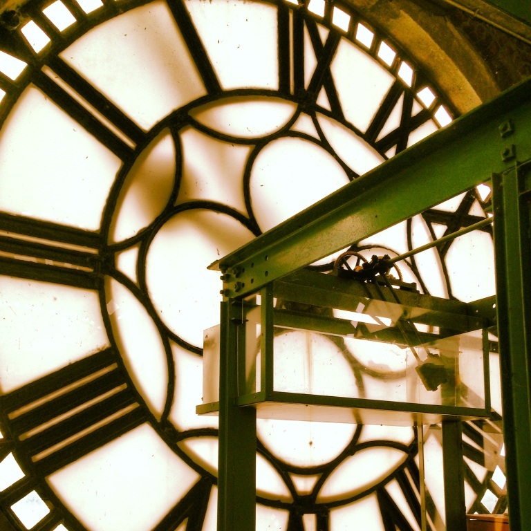 Time. Taken from inside a clock tower in Montreal.