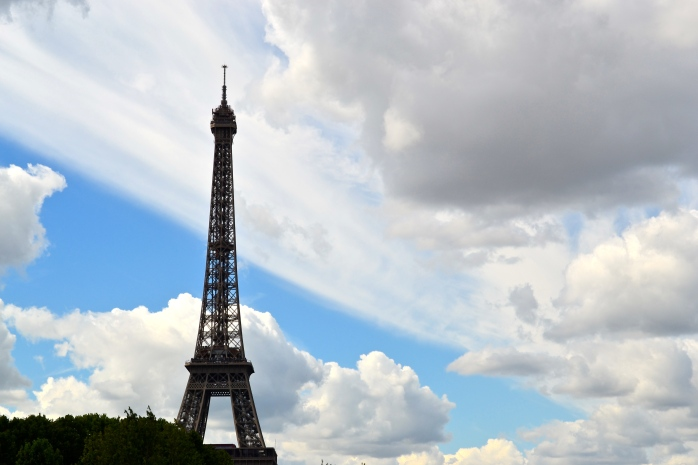 Nothing says love like the Eiffel tower.