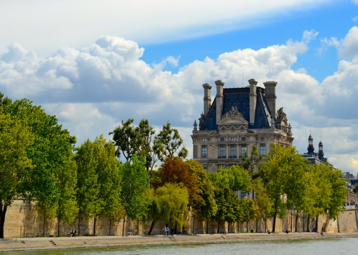 View of the Louvre from the  River Seine