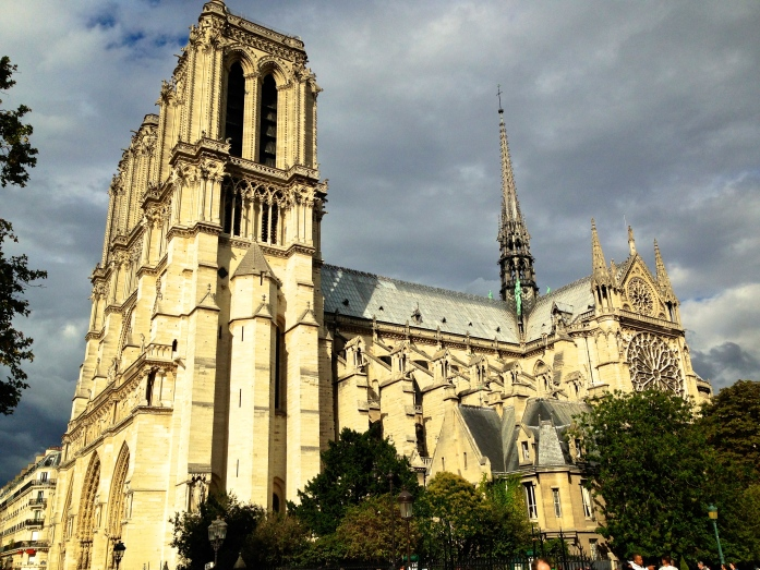 Notre Dame in the sunshine
