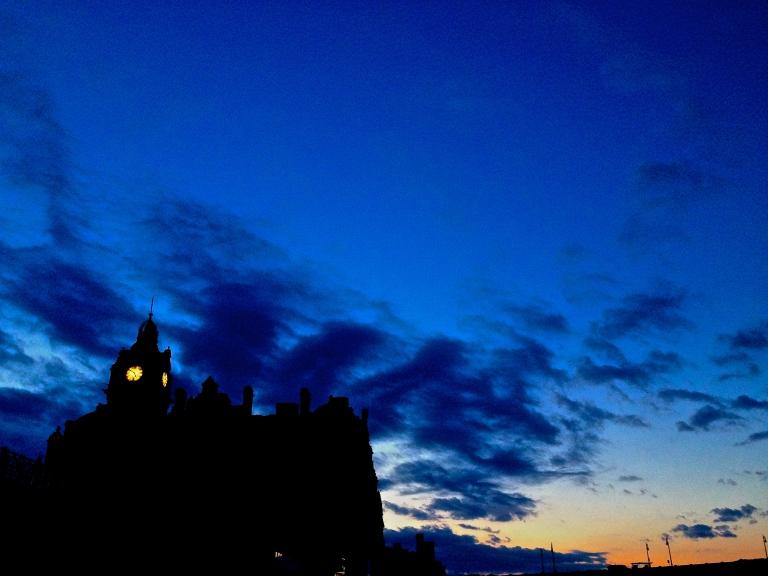 Balmoral Hotel clock tower, Waverley Station, Edinburgh, circa 5 am