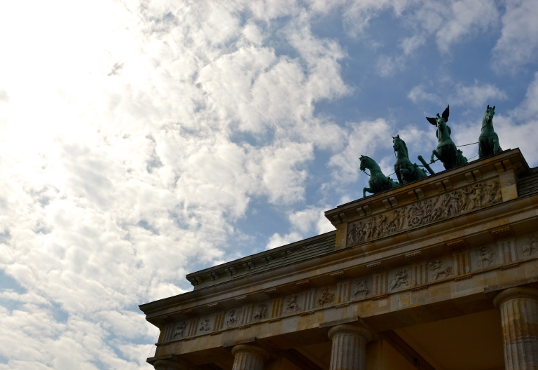 Top of the Brandenburger Gate.