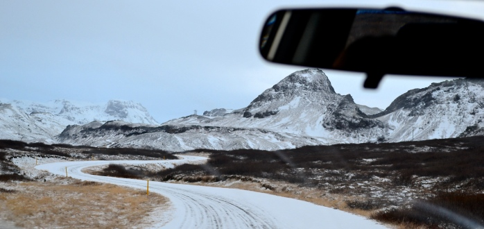 I never felt totally safe on these December roads outside of Reykjavik, Iceland.