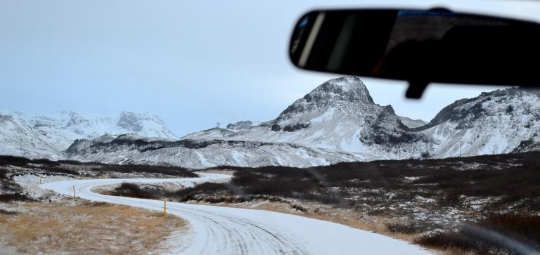 I never felt totally safe on these December roads outside of Reykjavik, Iceland.