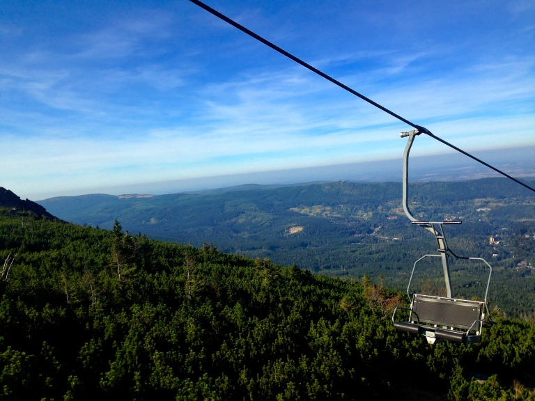 So I took a chair lift up the boring part