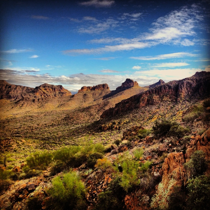 Hiking in Tonto National Forest. Mesa. Arizona.