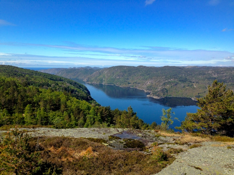 On a solo hike in Kvinesdal, Norway