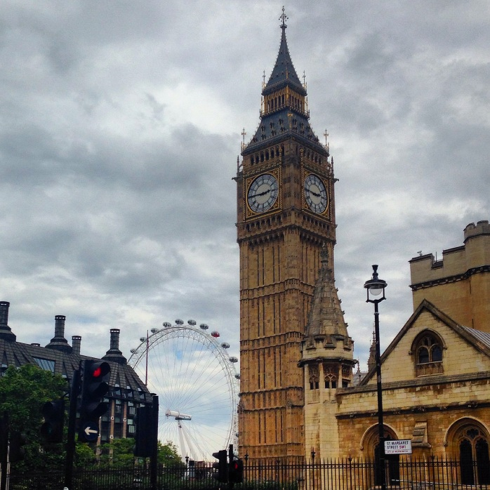 Big Ben, London Eye, England