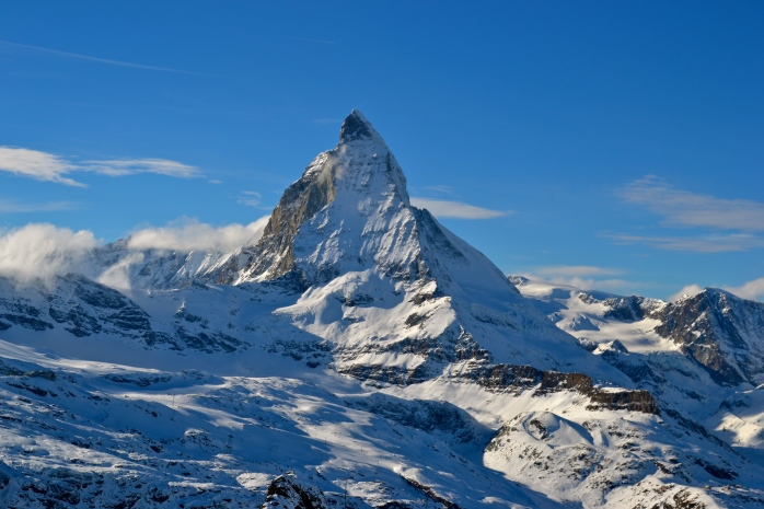 The Matterhorn from Gornergrat in Zermatt, Switzerland. Ohemgee.