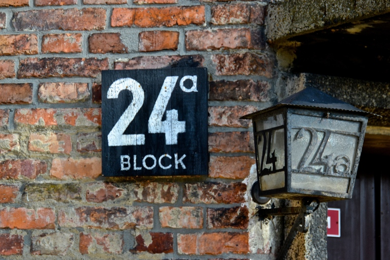 One of blocks in the long row of barracks at Auschwitz I.