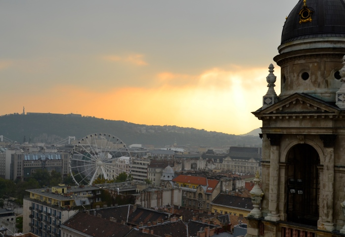 Sunset view from St. Stephen's Basilica, Budapest