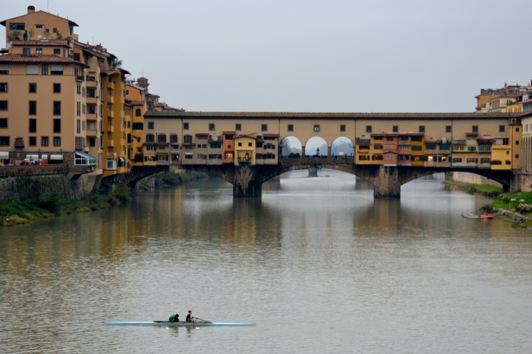 Two on the Arno River in Florence, Italy