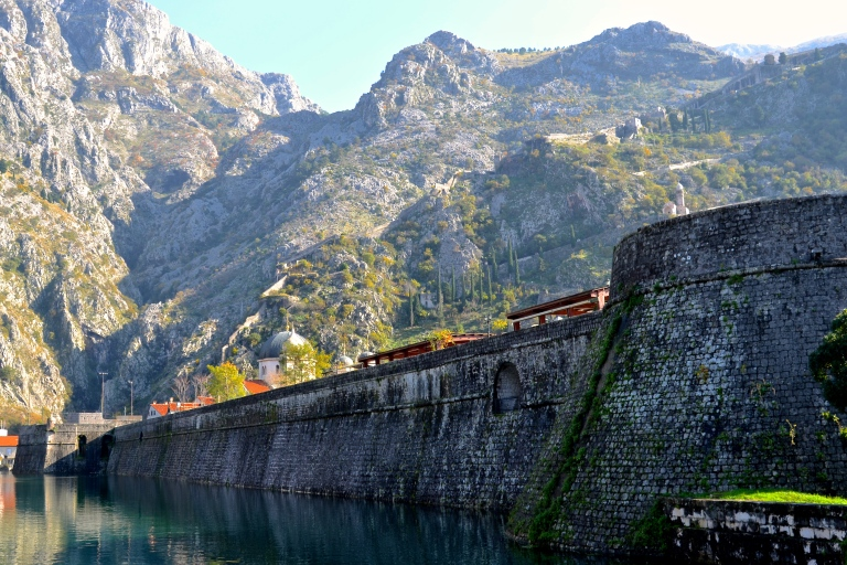 This is not a man on a horse, but it's a nice view from outside the castle walls, Kotor, Montenegro