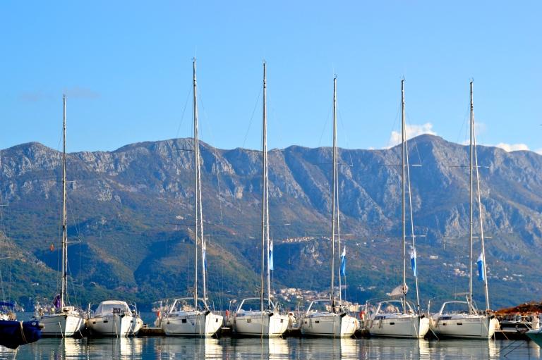 Harbor in Budva, Montenegro