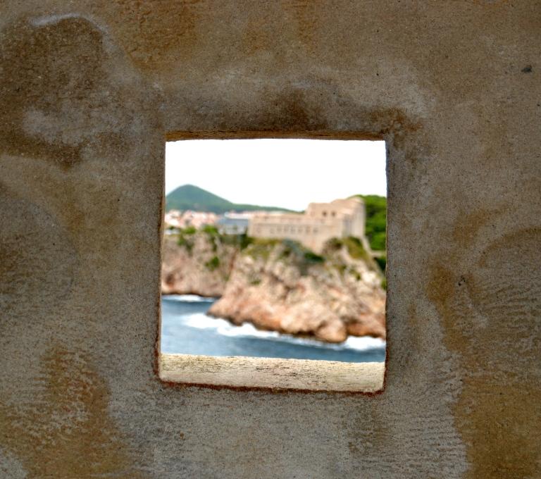 Outside view from inside the castle walls, Dubrovnik, Croatia