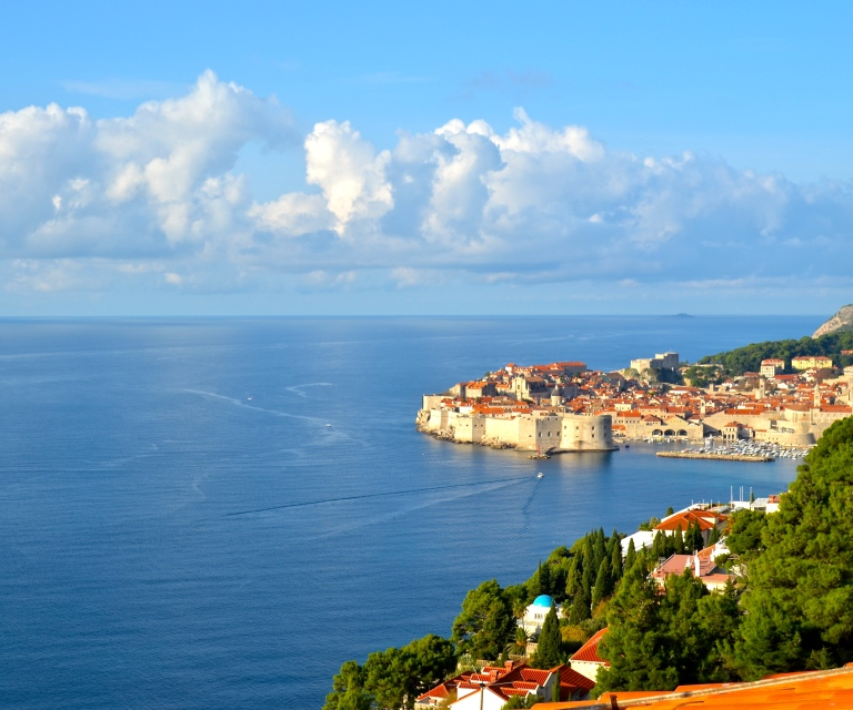 View from my Airbnb, Dubrovnik, Croatia