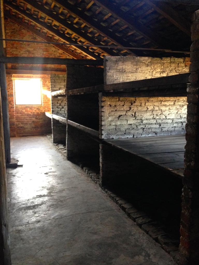 Prisoners slept six to a bunk. Auschwitz-Birkenau.
