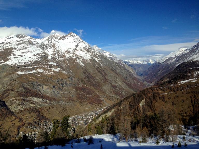 View from the train from Zermatt up to Gornergrat, Switzerland