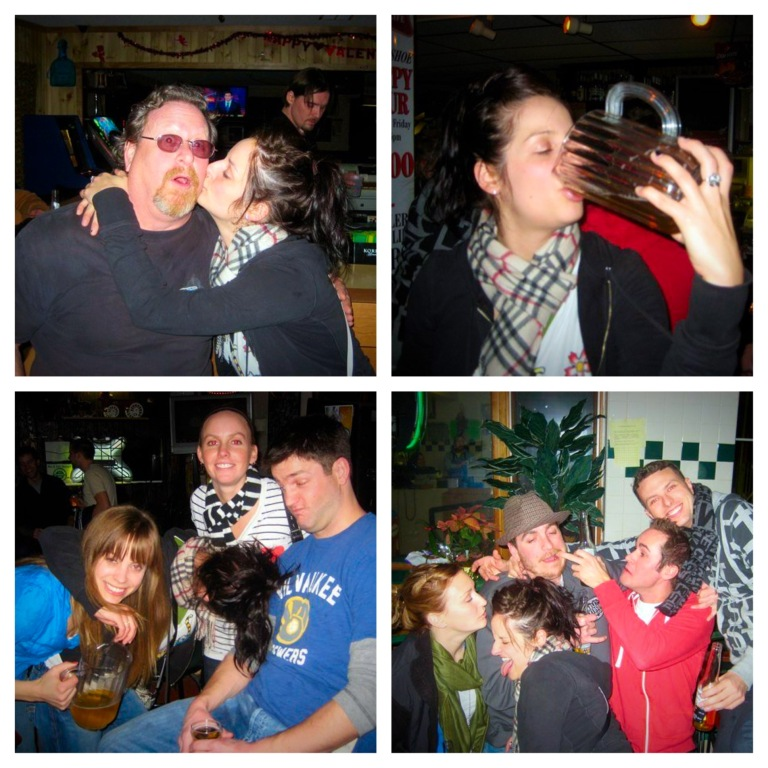 Kissing the regulars, drinking from pitchers, and well, just a mess.