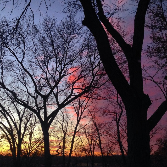 The last sunset of 2014
