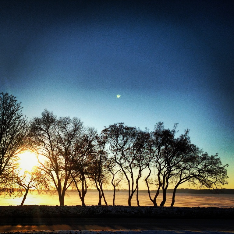 Lake Monona on a cold January morning. Madison, WI