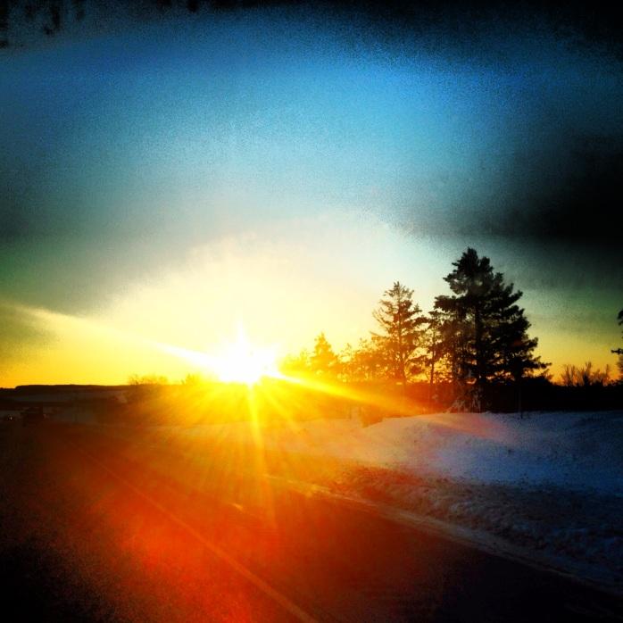 Wisconsin sun.
