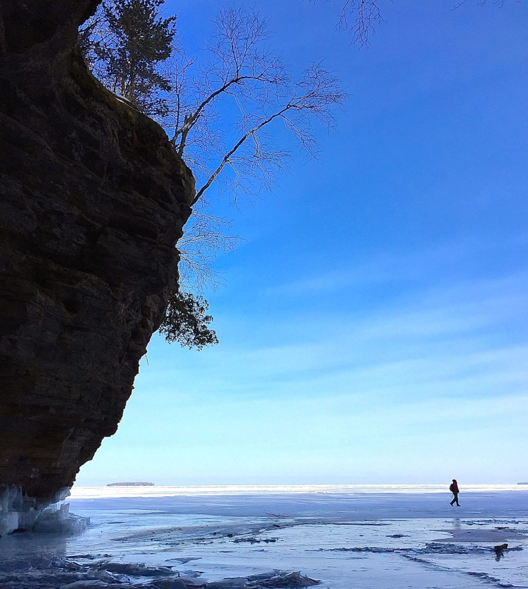Lake Superior Ice Cave Walker