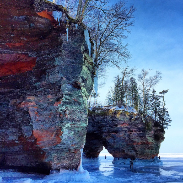Ice caves on Lake Superior, WI