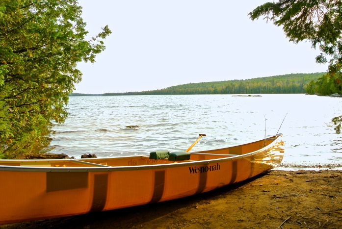 BWCA, the scene of the crime. I was bobbing by that rock, waaaaay out there.