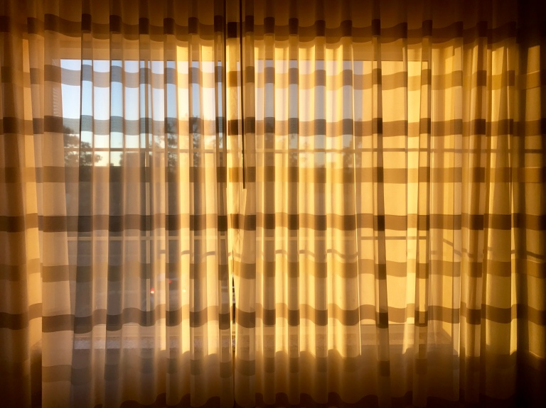 Reflections from a Marriott. It's hard to see the rest of the world when you keep the curtain closed. Just saying'.